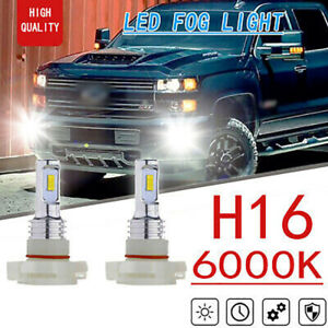 2x 70w 6000k Xenon White H16 Smd Led Fog Lights For Chevrolet Colorado Silverado