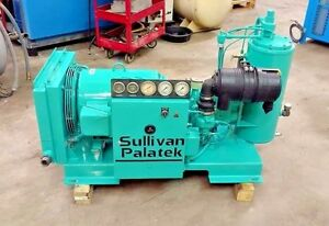 Used 30 hp Palatek D 30 Open Skid Mount 230 460v Rotary Air Compressor