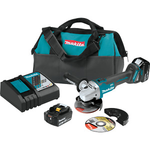 Makita Xag04t 18 volt Lxt Lithium ion Brushless 5 Cut Off Angle Grinder Kit