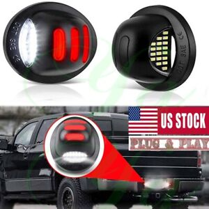 Red Neon Tube Led License Plate Tag Light Lamp For Ford 1999 2016 F150 F250 F350