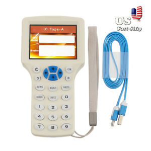Usa 10 Frequency Rfid Copy Encrypted Nfc Smart Id ic Card Reader writer copier