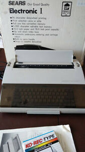 Vintage Sears Electronic Typewriter With Original Box Super Clean Works