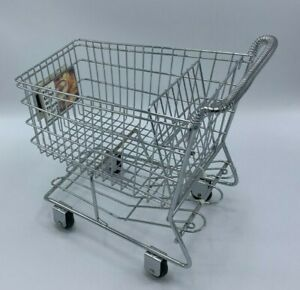Doll Metal Shopping Cart Rolling Wheels Big Enough For American Girl Dolls