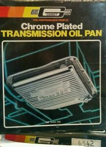 Mr gasket Chrome Transmission Pan For Gm Turbo 350 Nib W gasket Drain Plug