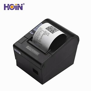 Hoin 80mm 58mm Pos Dot Receipt Paper Barcode Thermal Printer Usb lan Port