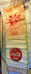 1998 NAGANO OLYMPICS  4 foot street BANNER coca cola two sided