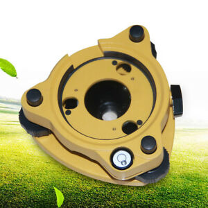 Gps Rotating Tribrach Adapter With Optical Plummet Yellow Fast Shipping