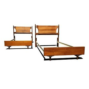 Mid Century Modern Twin Beds Headboards A Pair Available