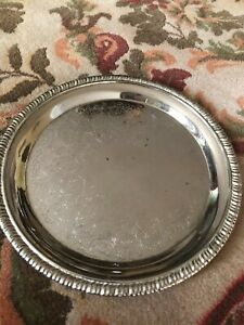 Vtg Silver Plated Engraved Nicole Childs Tea Tray Serving Tray Doll Party Tray