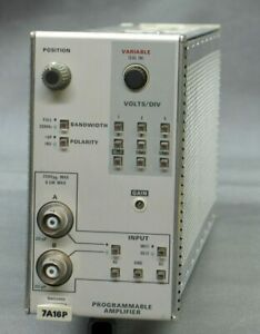 Tektronix 7a16p Programmable Amplifier 200mhz Refurbed Tested Good Exc