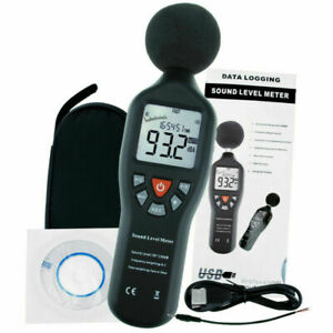 Sound Level Meter Data Logging Function 30db 130db Noise Tester Measuring Range