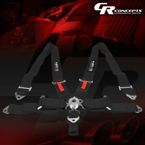 Nrg Universal 5 Point Cam Lock 3 W Safety Racing Seat Belt Harness Sbh R6pcbk