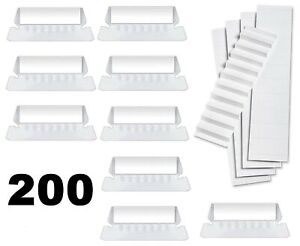 200 Pack Hanging File Folder Tabs And Paper Inserts With No Slip Grip 2 Inch