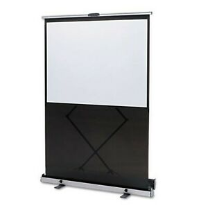 Quartet Mfg 980s Euro Portable Cinema Screen W black Carrying Case 80quot D