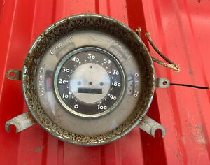 Antique Car Speedometer Gauge Gas Oil Battery Temp