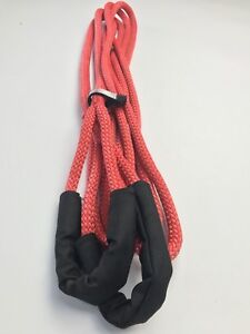 Zombie Choker Tow Rope 3 4 20ft Kinetic Recovery Rope Red Double Braided