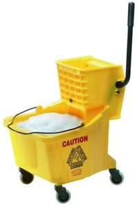 Rubbermaid Commercial Wavebrake Side Press Combo Mop Bucket