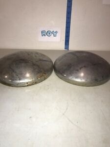Pair Of Vintage Baby Moon Hubcaps