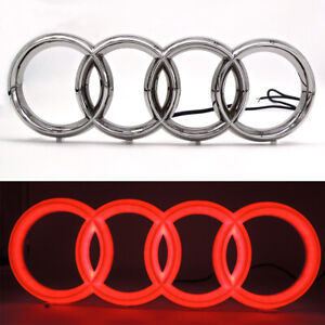 Sport Red Car Led Grille Front Logo Emblem Drl Light For Audi A1 A3 A4 A5 S3 A6