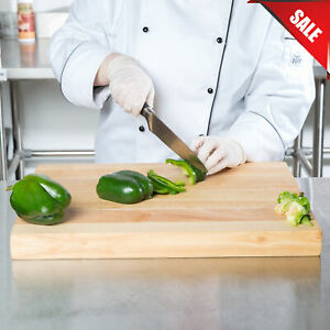 24 x 16 x 1 34 Wood Commercial Restaurant Solid Cutting Board Butcher Block New $79.87