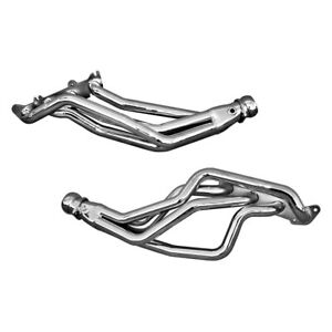 For Ford Mustang 86 95 Exhaust Headers Cnc Series Steel Silver Ceramic Coated