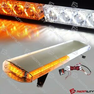 30 Inch Light Bar 56 Led White Amber Car Tow Truck Strobe Roof Advisor Emergency