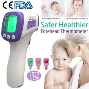 Usa Lcd Portable Infrared Forehead Thermometer Ir Digital Fever Non contact Baby