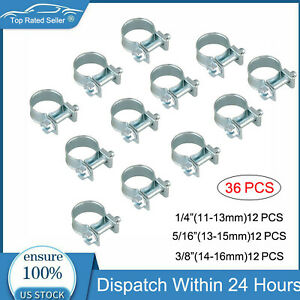 30 Pcs 1 4 5 16 3 8 Fuel Injection Gas Line Hose Clamps Clip Pipe Clamp Metal