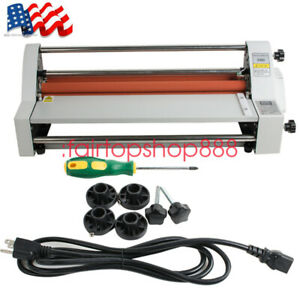 New Us Hot Cold Roll Laminator Single dual Sided Laminating Machine High Quality