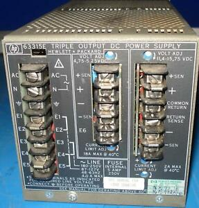 Hp 633ise Triple Output Dc Power Supply T4667