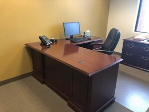 traditional Look Office Furniture Set For Sale See Pictures