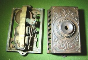 Strick Carter Ornate Victorian Cast Iron Eastlake Wall Mount Doorbell Antique