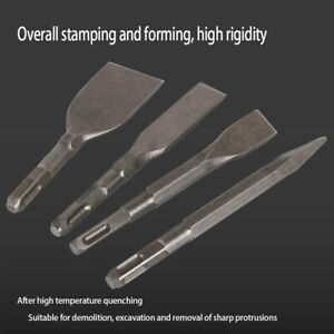 40cr Steel Hammer Drill Bit Chisel Flat Pointed Set Square Shank For Masonry 4pc