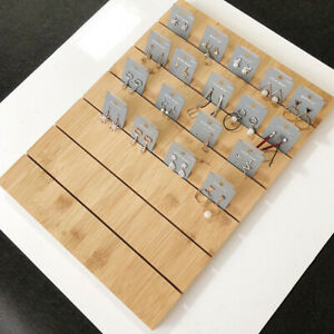 Finished Wooden Earring Ear Studs Cards Jewelry Rack Display Stand Board