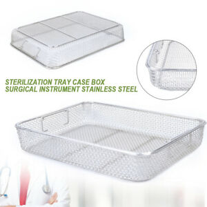 Rectangle Stainless Steel Sterilization Basket For Instrument Tray Clean Basket