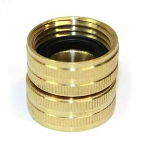 Brass 3 4 Ght Female To Female Water Hose Swivel Fitting Connector Coupler