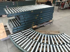 38 Of Hytrol Gravity Roller Conveyor Sections With Legs And Curve