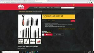 Mac Tools Pc25kss Punch And Chisel Set