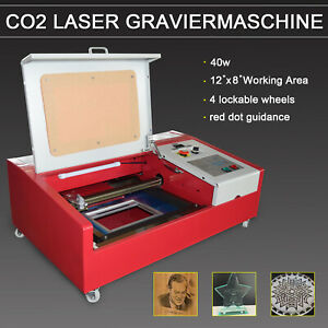 40w Co2 12x8 Inches Laser Engraving Machine With Rotary Wheels Lcd Screen