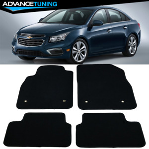Fits 08 16 Chevrolet Cruze Sedan Floor Mats Front Rear Black Nylon 4pc