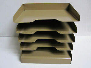Buddy Products Industrial Letter Tray Metal Desk Organizer tan Made In U s a
