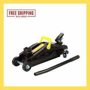 Black Jack 2 Ton Trolley Jack With 360 Rotation Handle Min Height 5 5 16 Max