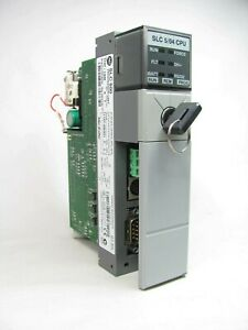 Allen Bradley Slc 500 5 04 Cpu 1747 l542 Ser C Frn 5 Good Shape
