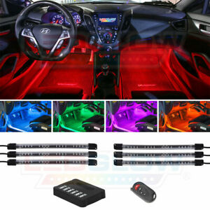 New Ledglow 6pc Flexible Under Dash Neon Led Lighting Kit W Wireless Remote
