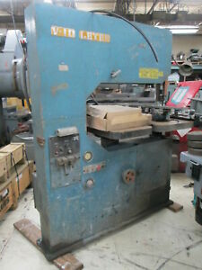 Leten V 10 Twin Table 208v 3ph Vert Band Saw W blade Welder Speed Indicator