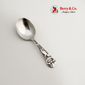 Man In The Moon Baby Spoon Webster Sterling Silver No Mono
