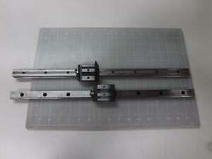 Lot Of 2 Thk Gsr20v 2i003 Bearings W 19 Cnc Linear Slide Rails