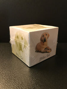 New Yellow Lab Note Paper Cube 820 Printed Sheets near 1 Lb 3 5 x3 5 sealed