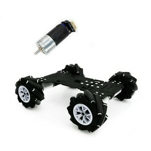4wd Omnidirectional Robot Car Chassis 40kg 2 6a 460rpm For Raspberry Pi Stm32
