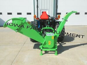 Drum Type Tractor Pto Palm Frond wood Chipper Peruzzo Tb100 4 diax12 w Throat